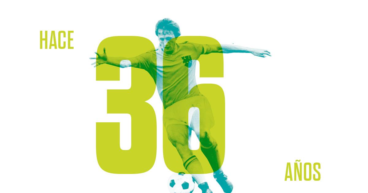 Johan Cruyff anunció su retirada como jugador de fútbol